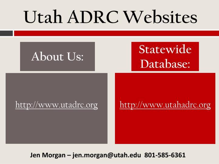 Utah ADRC Websites