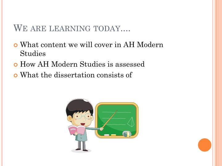 We are learning today....