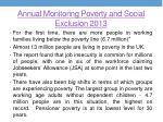 annual monitoring poverty and social exclusion 2013