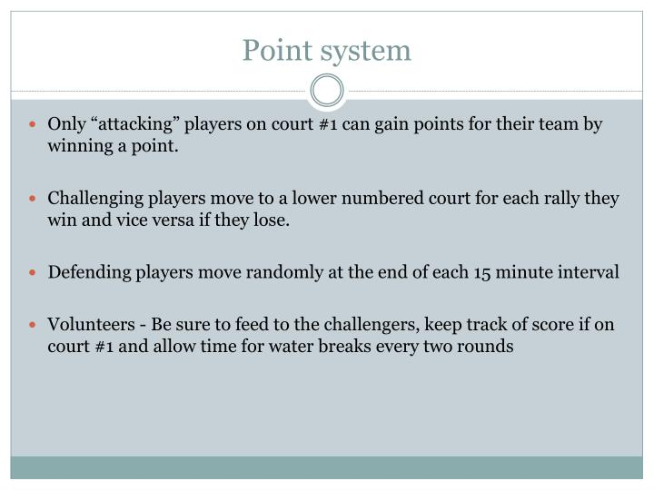Point system