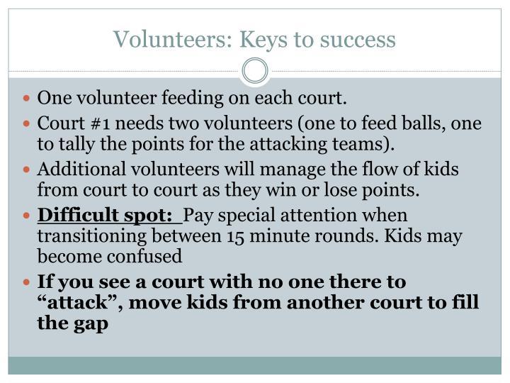 Volunteers: Keys to success