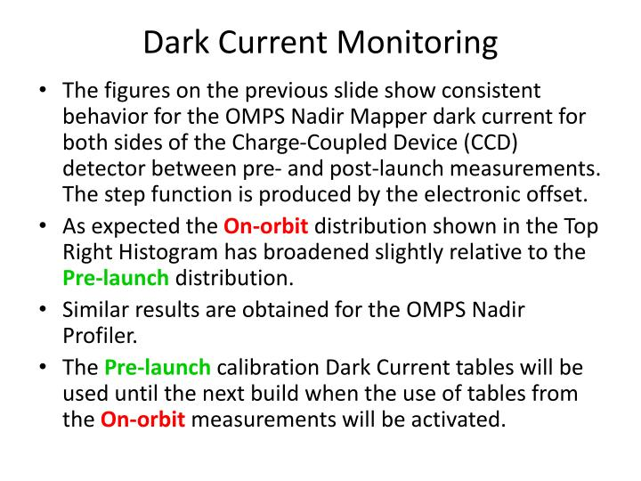 Dark Current Monitoring