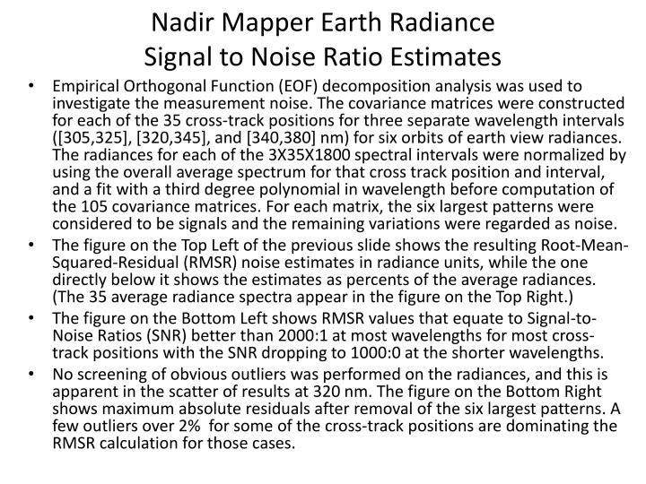 Nadir Mapper Earth Radiance