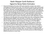 nadir mapper earth radiance signal to noise ratio estimates