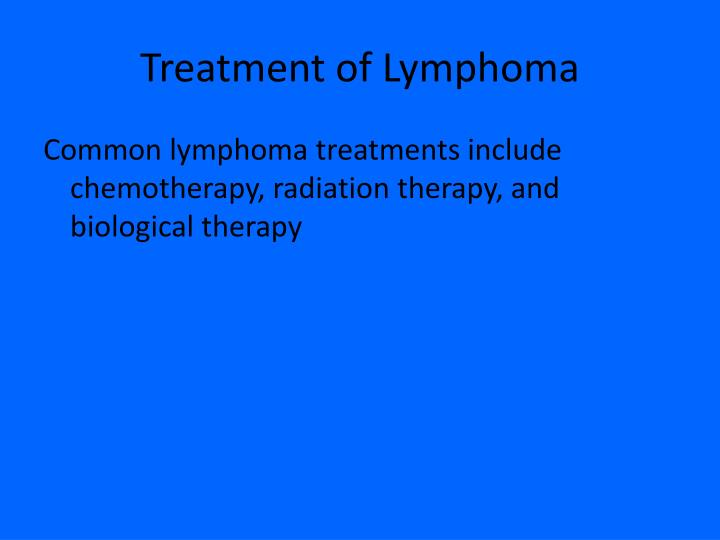 Treatment of Lymphoma
