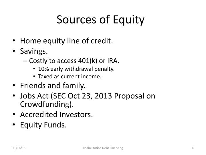Sources of Equity