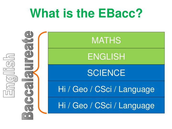 What is the EBacc?