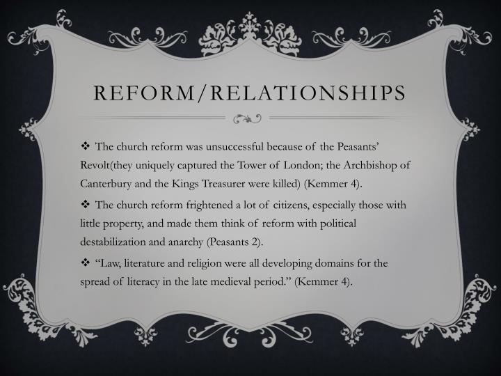 Reform/Relationships