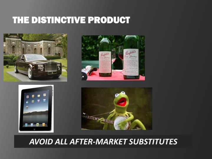 THE DISTINCTIVE PRODUCT