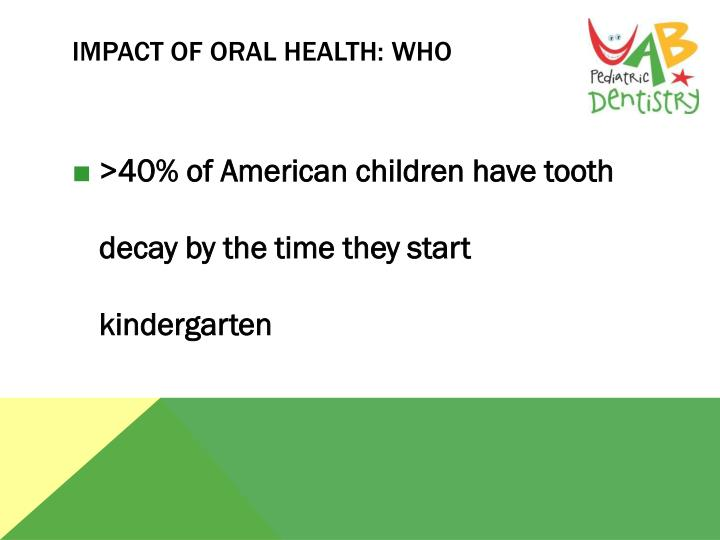 Impact of Oral Health: Who