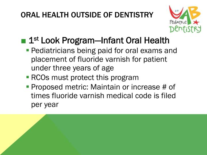 Oral health Outside of Dentistry