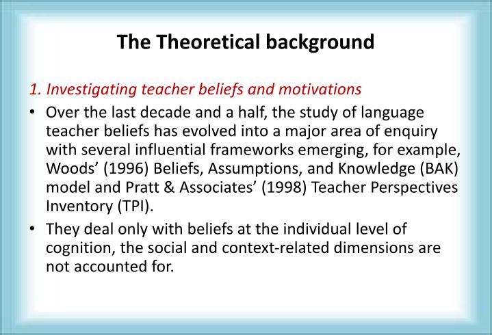 The Theoretical background