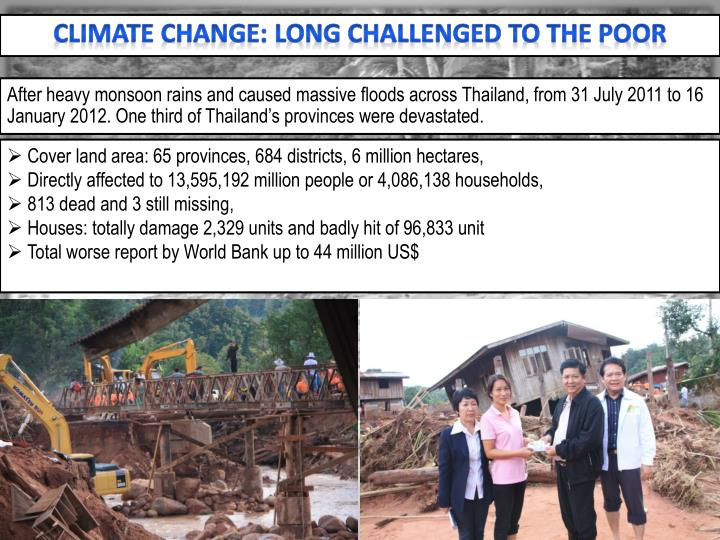 Climate Change: Long Challenged to the Poor