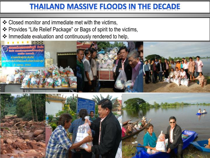 Thailand Massive floods in the decade