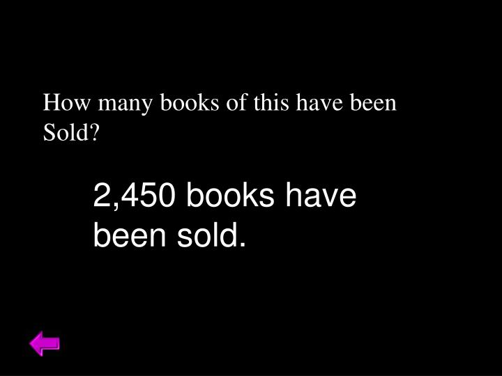 How many books of this have been