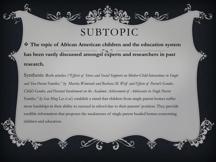 Subtopic