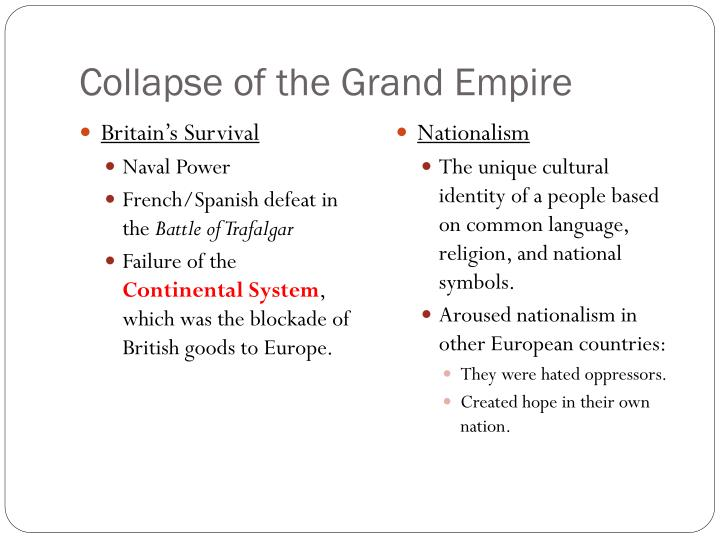Collapse of the Grand Empire