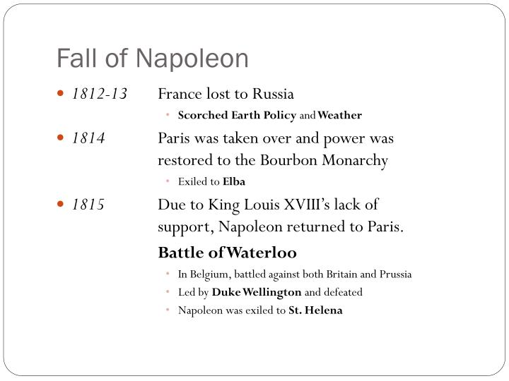 Fall of Napoleon