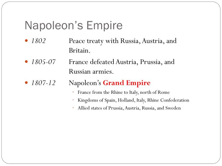 Napoleon's Empire