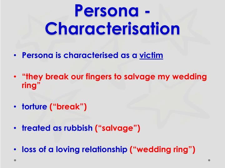 Persona - Characterisation