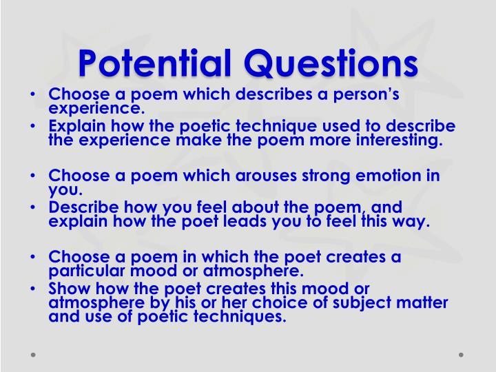 Potential Questions