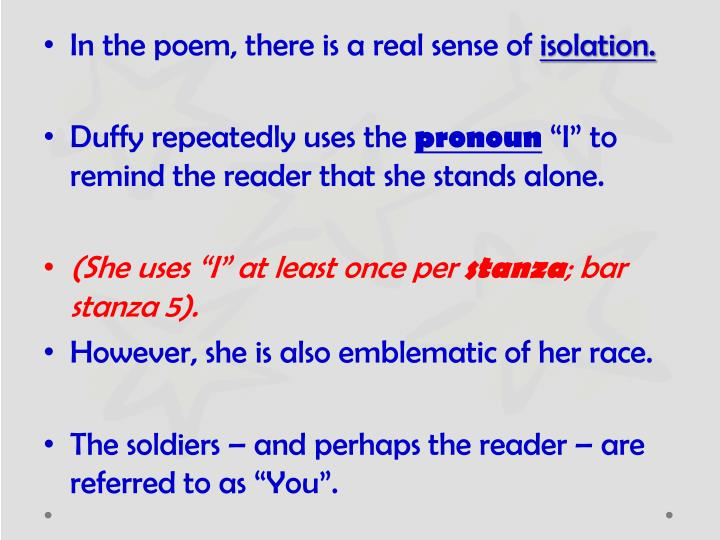 In the poem, there is a real sense of