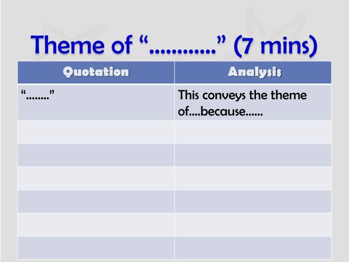 "Theme of ""…………"" (7"