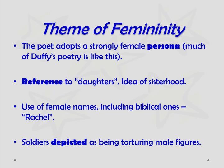 Theme of Femininity