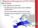 napoleon bonaparte 1769 18213