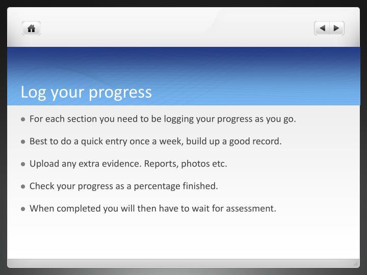 Log your progress