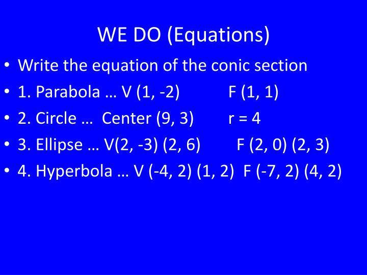 WE DO (Equations)
