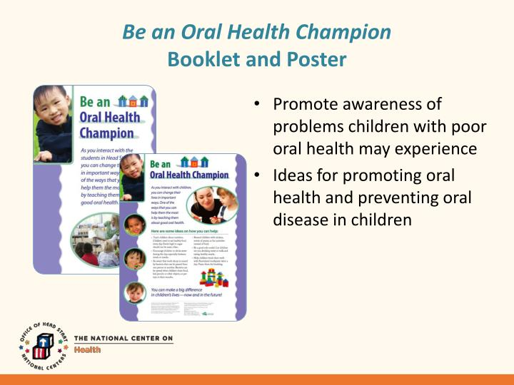 Be an Oral Health Champion