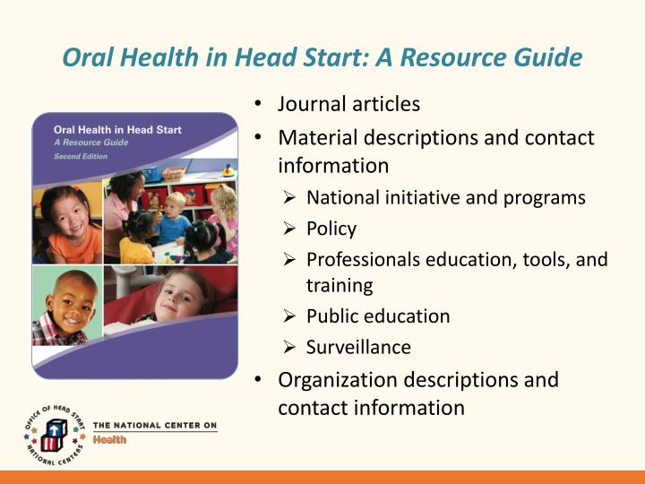 Oral Health in Head Start: A Resource Guide