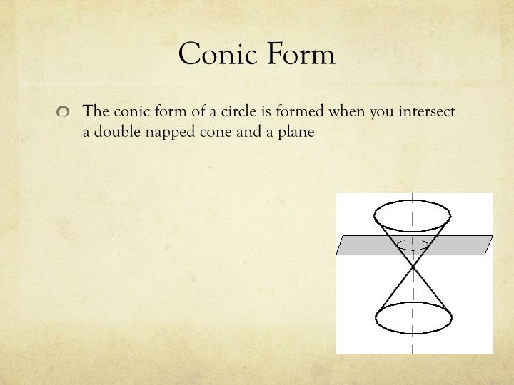 Conic Form