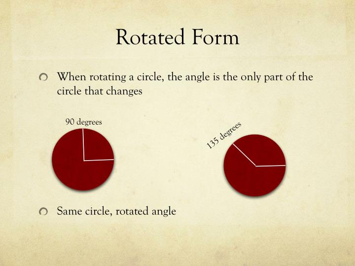 Rotated Form