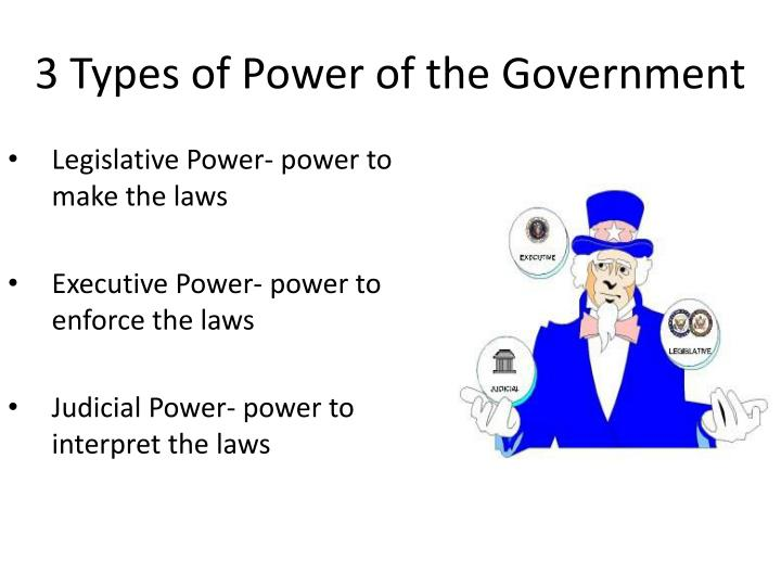 3 Types of Power of the Government