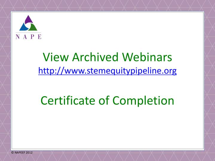 View Archived Webinars