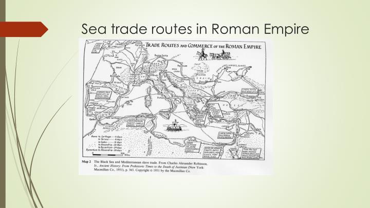 Sea trade routes in Roman Empire