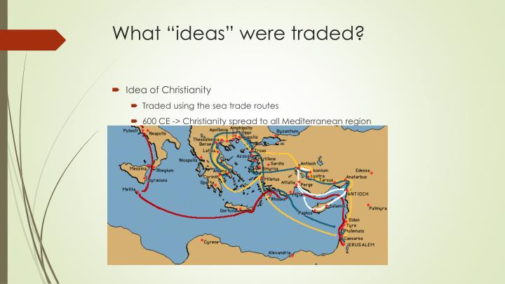 """What """"ideas"""" were traded?"""