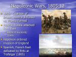 napoleonic wars 1805 12