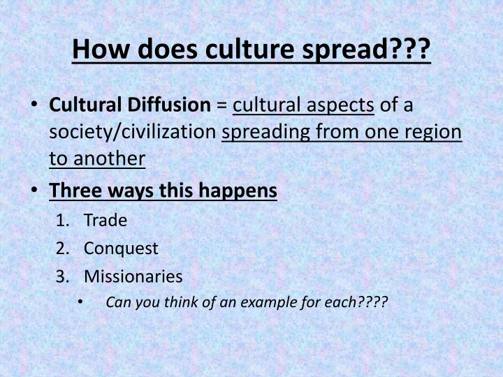 How does culture spread???