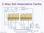 2 way set associative cache