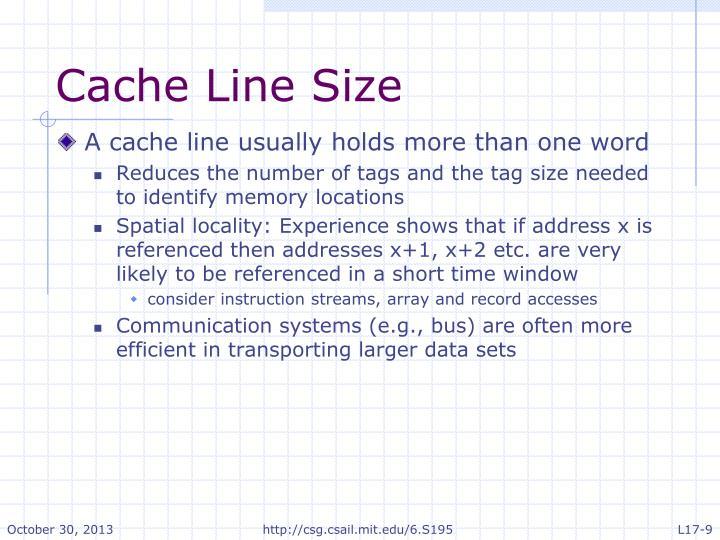 Cache Line Size