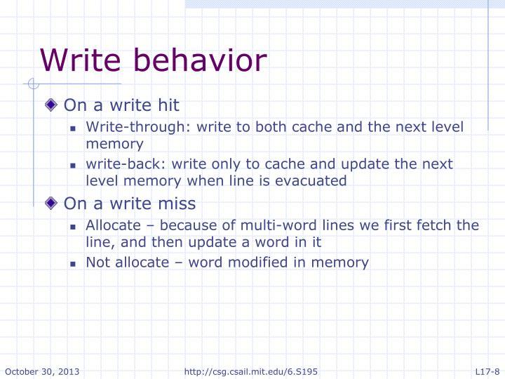 Write behavior