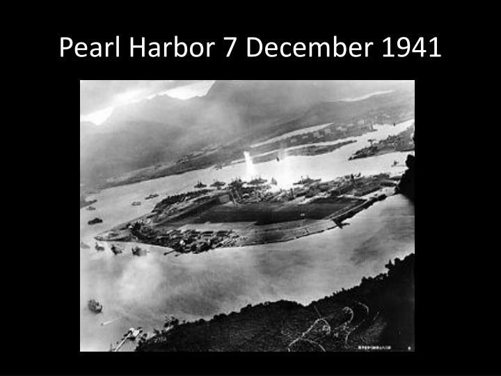 Pearl Harbor 7 December 1941
