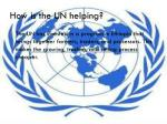 how is the un helping