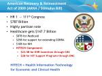 american recovery reinvestment act of 2009 arra stimulus bill