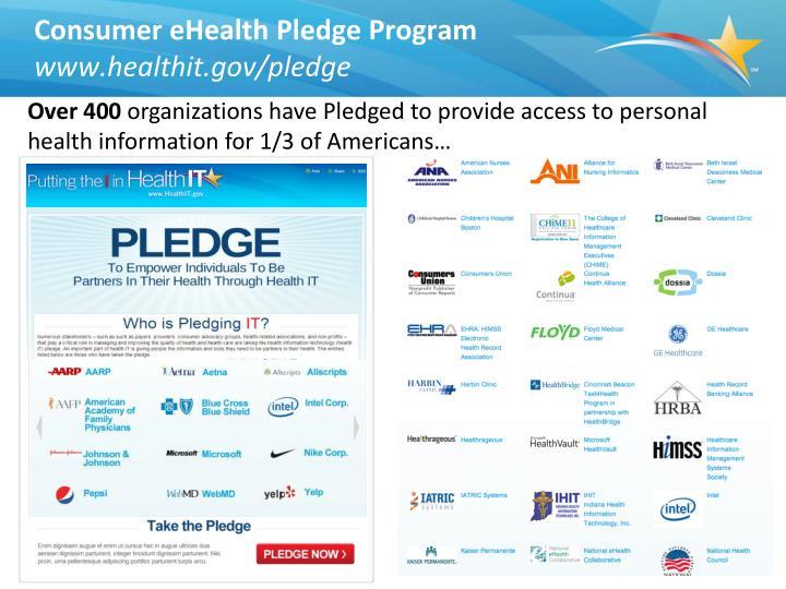 Consumer eHealth Pledge Program