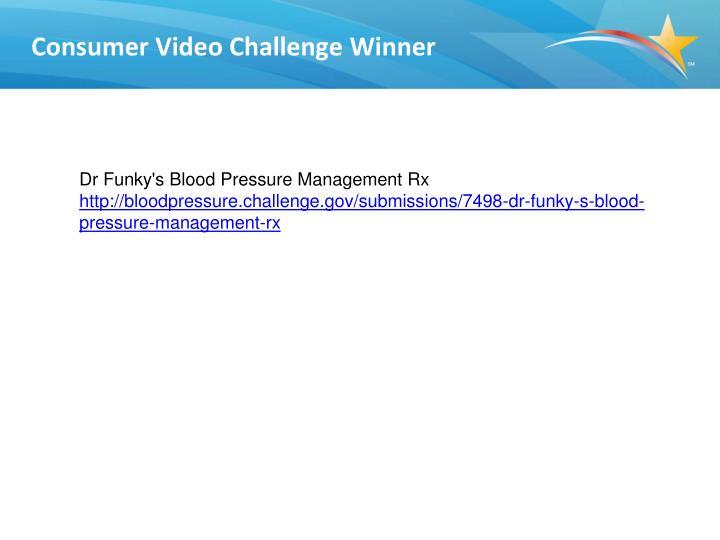 Consumer Video Challenge Winner