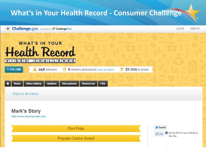 What's in Your Health Record - Consumer